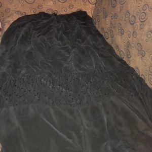 Black long skirt, large